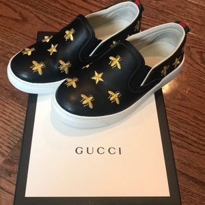 Gucci Childrens Dublin Bees and Stars slip-ons
